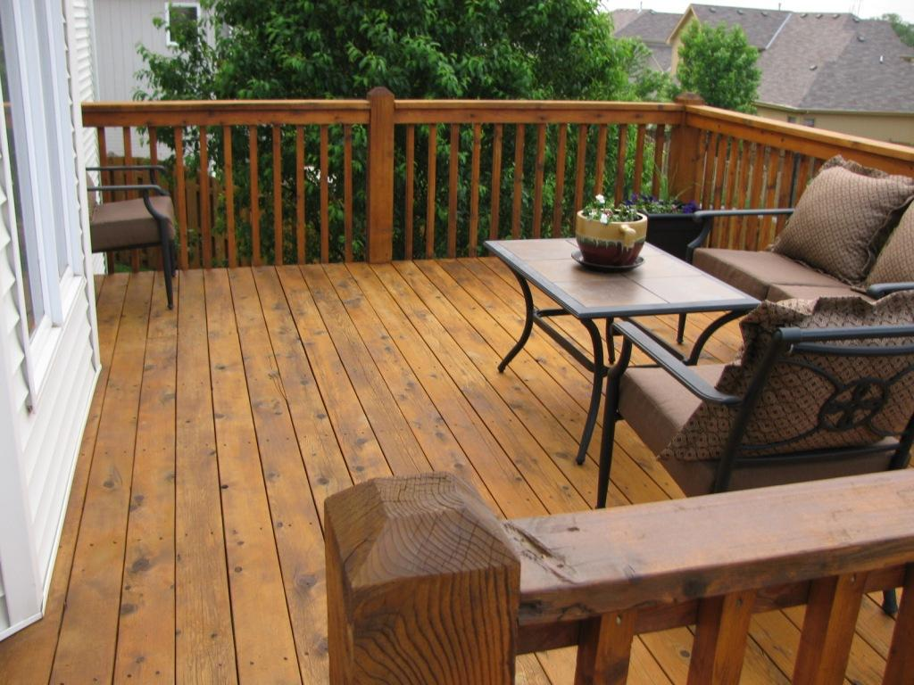 Deck Stained with TWP - CedarTone color