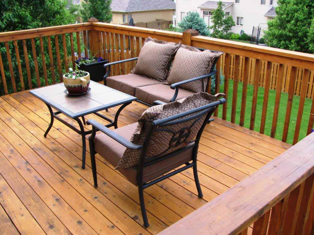 Deck Stain Completed in Semi-Transparent in CedarTone Finish