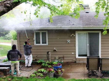 Professional Powerwashing, Gutter Cleaning - inside & outside of Gutters