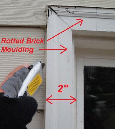 Replacing a Rotted Window Brick Moulding