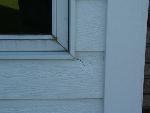 Rotted Lap Siding around a Window